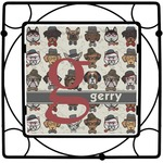 Hipster Dogs Square Trivet (Personalized)