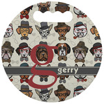Hipster Dogs Stadium Cushion (Round) (Personalized)