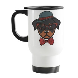 Hipster Dogs Stainless Steel Travel Mug with Handle