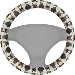 Hipster Dogs Steering Wheel Cover (Personalized)