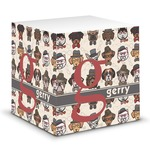 Hipster Dogs Sticky Note Cube (Personalized)