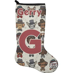 Hipster Dogs Holiday Stocking - Neoprene (Personalized)