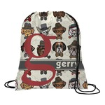 Hipster Dogs Drawstring Backpack (Personalized)