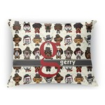 Hipster Dogs Rectangular Throw Pillow Case (Personalized)