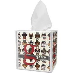 Hipster Dogs Tissue Box Cover (Personalized)