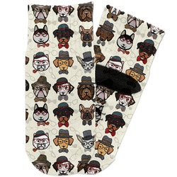 Hipster Dogs Toddler Ankle Socks (Personalized)