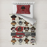 Hipster Dogs Toddler Bedding w/ Name and Initial