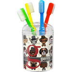 Hipster Dogs Toothbrush Holder (Personalized)