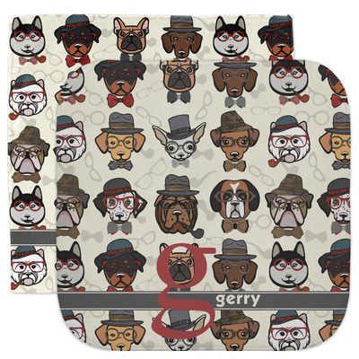 Hipster Dogs Facecloth / Wash Cloth (Personalized)