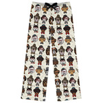 Hipster Dogs Womens Pajama Pants (Personalized)