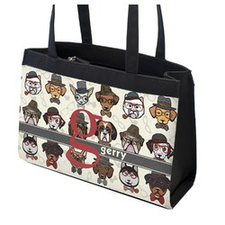 Hipster Dogs Zippered Everyday Tote (Personalized)