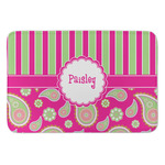 Pink & Green Paisley and Stripes Anti-Fatigue Kitchen Mat (Personalized)