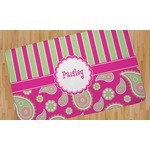 Pink & Green Paisley and Stripes Area Rug (Personalized)