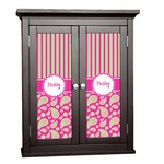 Pink & Green Paisley and Stripes Cabinet Decal - Custom Size (Personalized)
