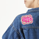 Pink & Green Paisley and Stripes Large Custom Shape Patch (Personalized)