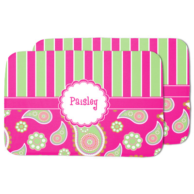 Pink & Green Paisley and Stripes Dish Drying Mat (Personalized)