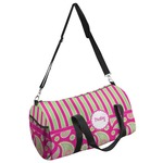 Pink & Green Paisley and Stripes Duffel Bag - Multiple Sizes (Personalized)