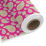 Pink & Green Paisley and Stripes Custom Fabric by the Yard (Personalized)