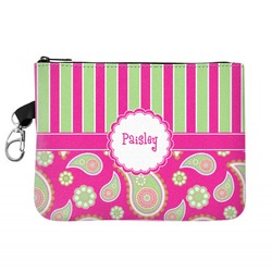 Pink & Green Paisley and Stripes Golf Accessories Bag (Personalized)