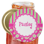 Pink & Green Paisley and Stripes Jar Opener (Personalized)