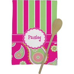 Pink & Green Paisley and Stripes Kitchen Towel - Full Print (Personalized)