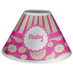Pink & Green Paisley and Stripes Coolie Lamp Shade (Personalized)