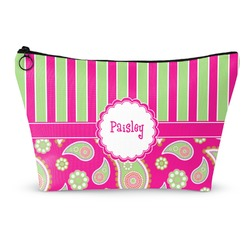 Pink & Green Paisley and Stripes Makeup Bags (Personalized)
