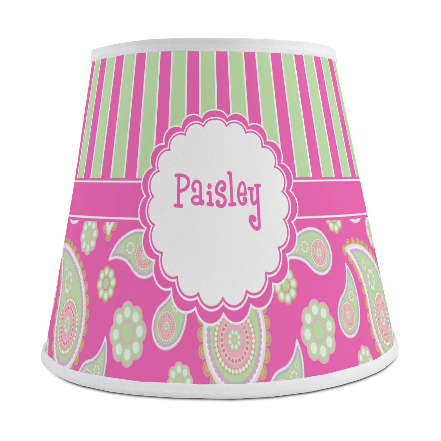 Pink green paisley and stripes empire lamp shade personalized pink green paisley and stripes empire lamp shade personalized aloadofball Choice Image