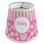 Pink & Green Paisley and Stripes Empire Lamp Shade (Personalized)