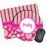 Pink & Green Paisley and Stripes Mouse Pads (Personalized)