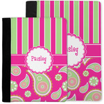 Pink & Green Paisley and Stripes Notebook Padfolio w/ Name or Text
