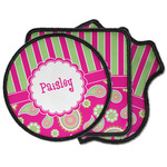 Pink & Green Paisley and Stripes Iron on Patches (Personalized)