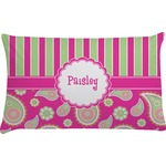 Pink & Green Paisley and Stripes Pillow Case - Toddler (Personalized)