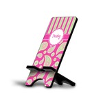 Pink & Green Paisley and Stripes Phone Stand (Personalized)