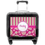 Pink & Green Paisley and Stripes Pilot / Flight Suitcase (Personalized)