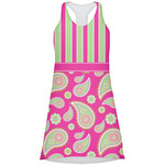 Pink & Green Paisley and Stripes Racerback Dress (Personalized)