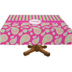 "Pink & Green Paisley and Stripes Tablecloth - 58""x102"" (Personalized)"