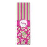 Pink & Green Paisley and Stripes Runner Rug - 3.66'x8' (Personalized)