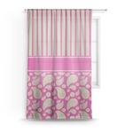 Pink & Green Paisley and Stripes Sheer Curtains (Personalized)