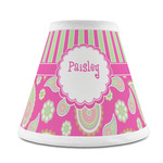 Pink & Green Paisley and Stripes Chandelier Lamp Shade (Personalized)