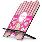 Pink & Green Paisley and Stripes Stylized Tablet Stand (Personalized)