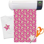 Pink & Green Paisley and Stripes Heat Transfer Vinyl Sheet (12