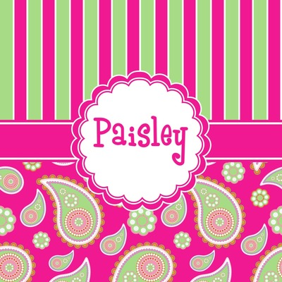 Pink & Green Paisley and Stripes