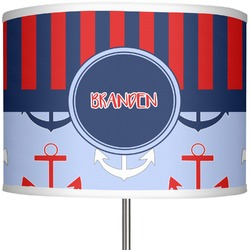 "Classic Anchor & Stripes 13"" Drum Lamp Shade (Personalized)"