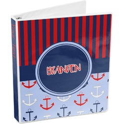 Classic Anchor & Stripes 3-Ring Binder (Personalized)