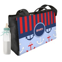 Classic Anchor & Stripes Diaper Bag (Personalized)