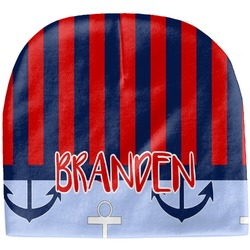 Classic Anchor & Stripes Baby Hat (Beanie) (Personalized)