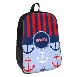 Classic Anchor & Stripes Kids Backpack (Personalized)
