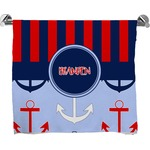 Classic Anchor & Stripes Bath Towel (Personalized)