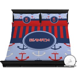 Classic Anchor & Stripes Duvet Cover Set - King (Personalized)